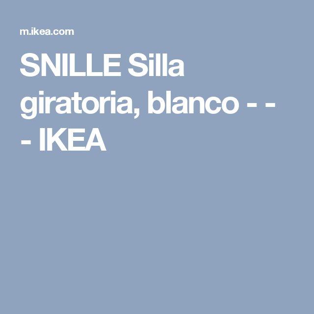 SNILLE Silla giratoria, blanco - - - IKEA