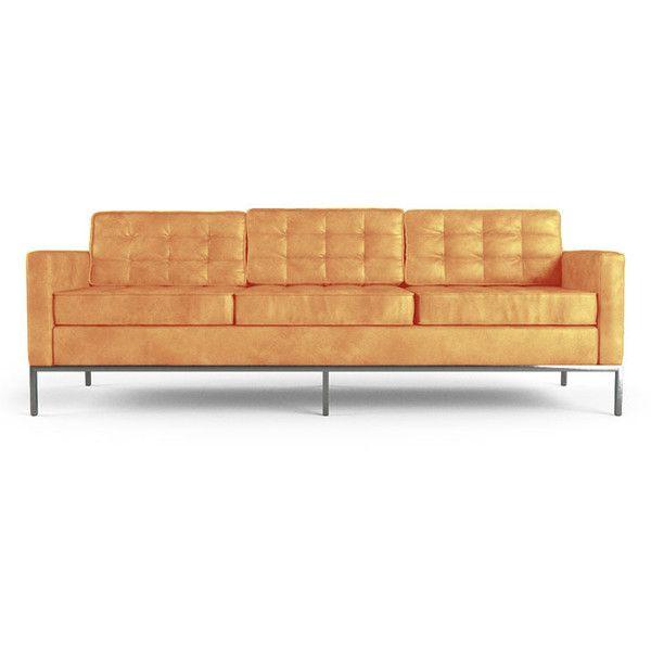 Best 25 Orange leather sofas ideas only on Pinterest Orange