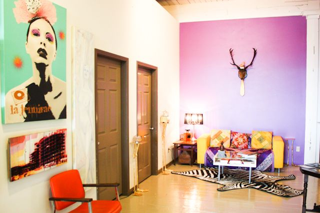 entryway of an artist's live/work #loft at the bemis building in #seattle