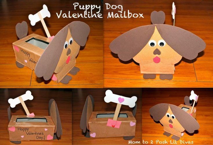 Mom to 2 Posh Lil Divas: Puppy Dog Valentine Mailbox