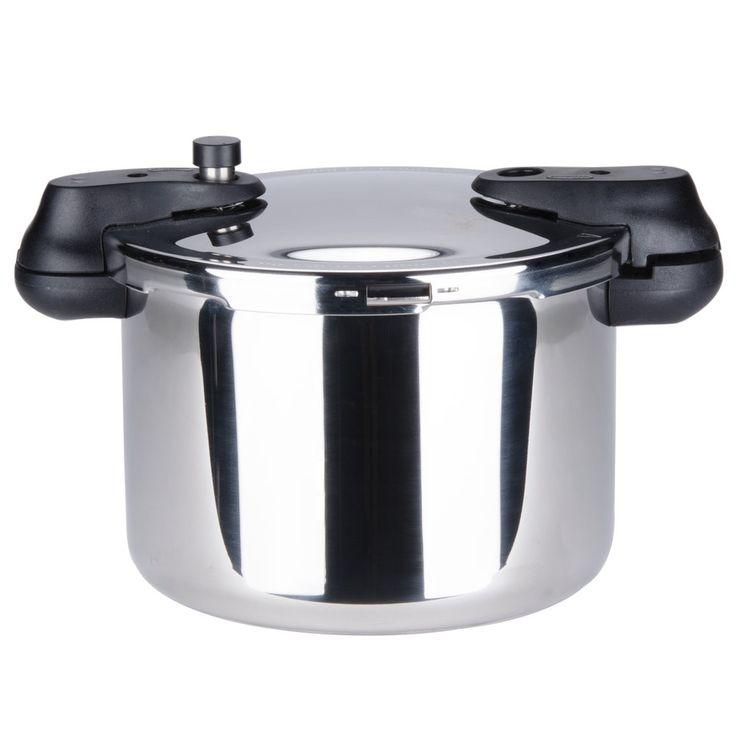 8 Liter (8 1/2 Qt.) Stainless Steel Pressure Cooker with Steamer Basket