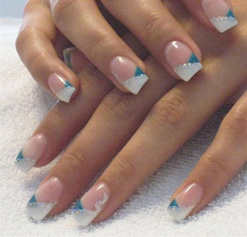 17 best ideas about gel nail tips on pinterest gel nails french silver sparkle nails and white glitter nails