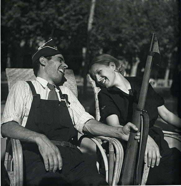 Gerda Taro was a war photographer, and the companion and professional partner of photographer Robert Capa. Taro is regarded as the first female photojournalist to cover the front lines of a war and to die while doing so.