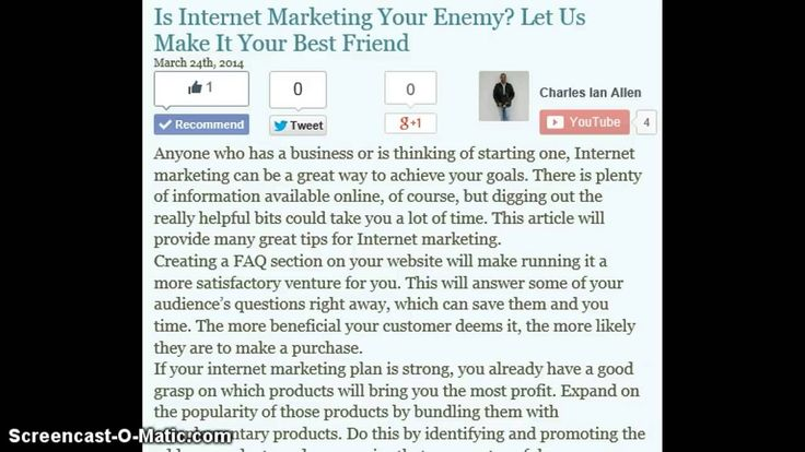 Is Internet Marketing Your Enemy?