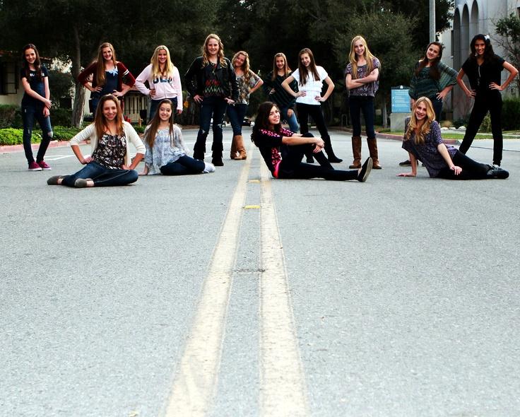 Group teen birthday photo