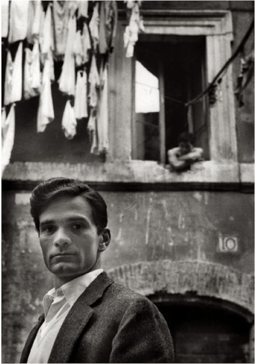"""Writer Pier Paolo Pasolini in Rome"" 1953, photo by German photographer HERBERT LIST (1903/1975)"