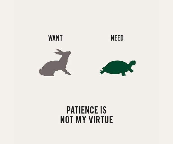 Be patient as it shows high moral standards