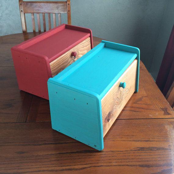 Hölzerne Weizen Breadbox Hand bemalte Holz Brot Box