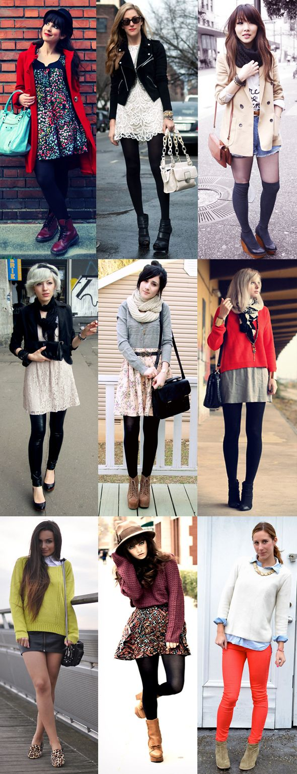 Cute autumn/winter outfits. Wish I lived somewhere cold enough to dress warm )^: