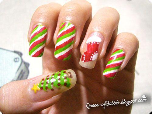 Easy+Christmas+Nail+Art+Designs | Nail Art Designs Ideas 2013 2014 3 Cute & Easy Christmas Nail Art ...