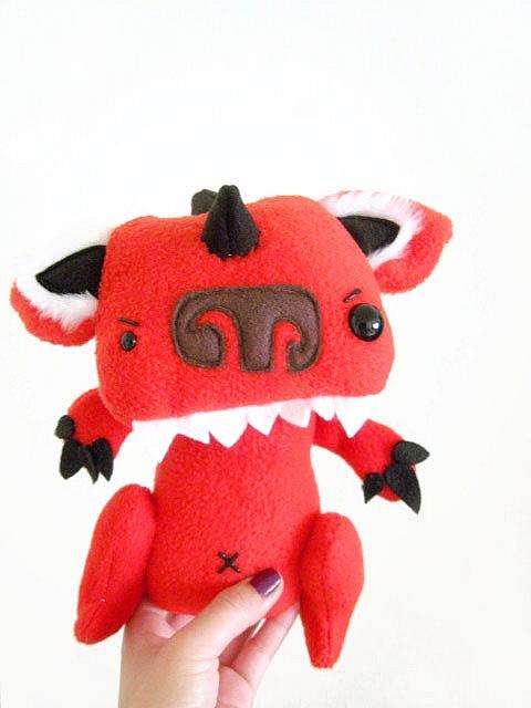 Chupacabra Felt ToyChupacabra Felt, Felt Stuffy, El Chupacabra, Tio Razorbacks, Felt Toys, May 5, Change Tio, Toys Diy