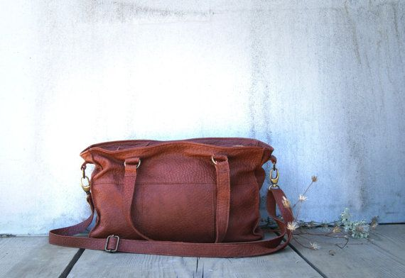 City Bag in Chestnut Brown by morelle, $225.00