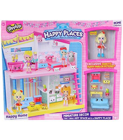 Shopkins Happy Places Miniature Decor with Popette and Puppy Parlor Petkins