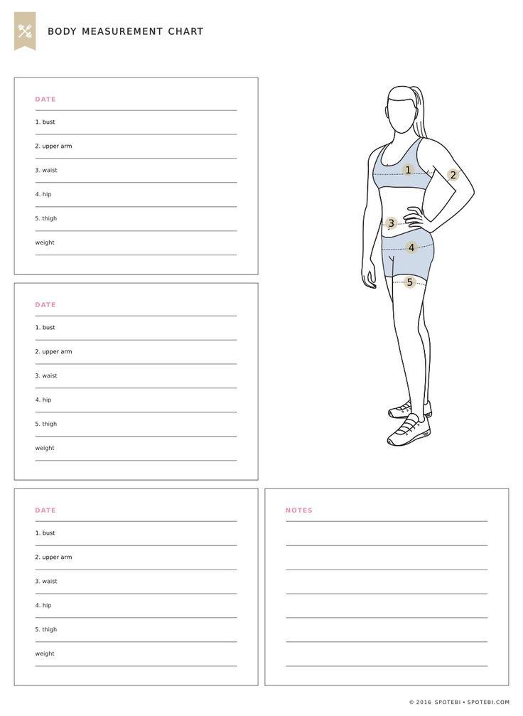 Body Measurement Chart Operation Get Fit Pinterest Fitness