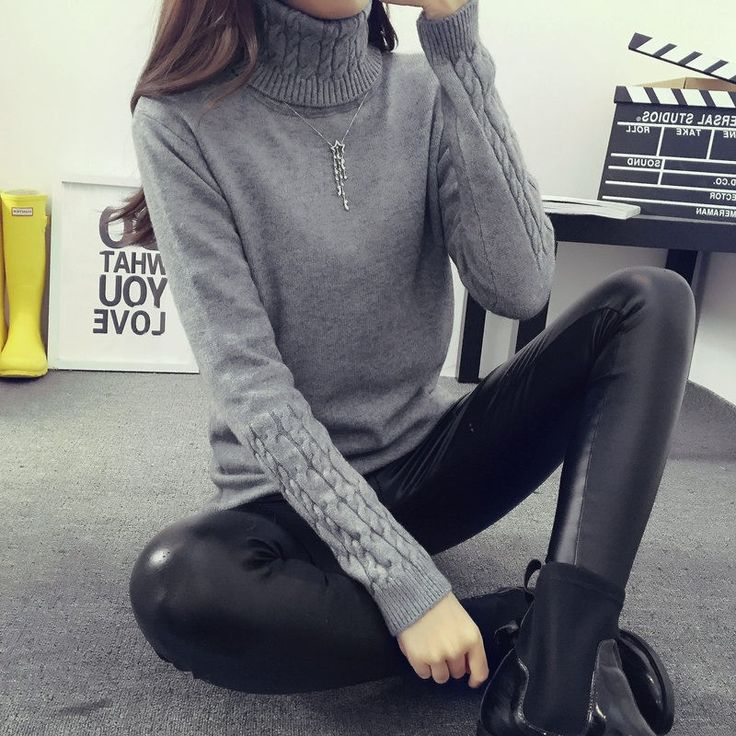 04fbf0861d Hot 2017 spring Autumn Winter Women Sweaters Pullovers Fashion turtleneck Sweater  Women twisted thickening slim pullover