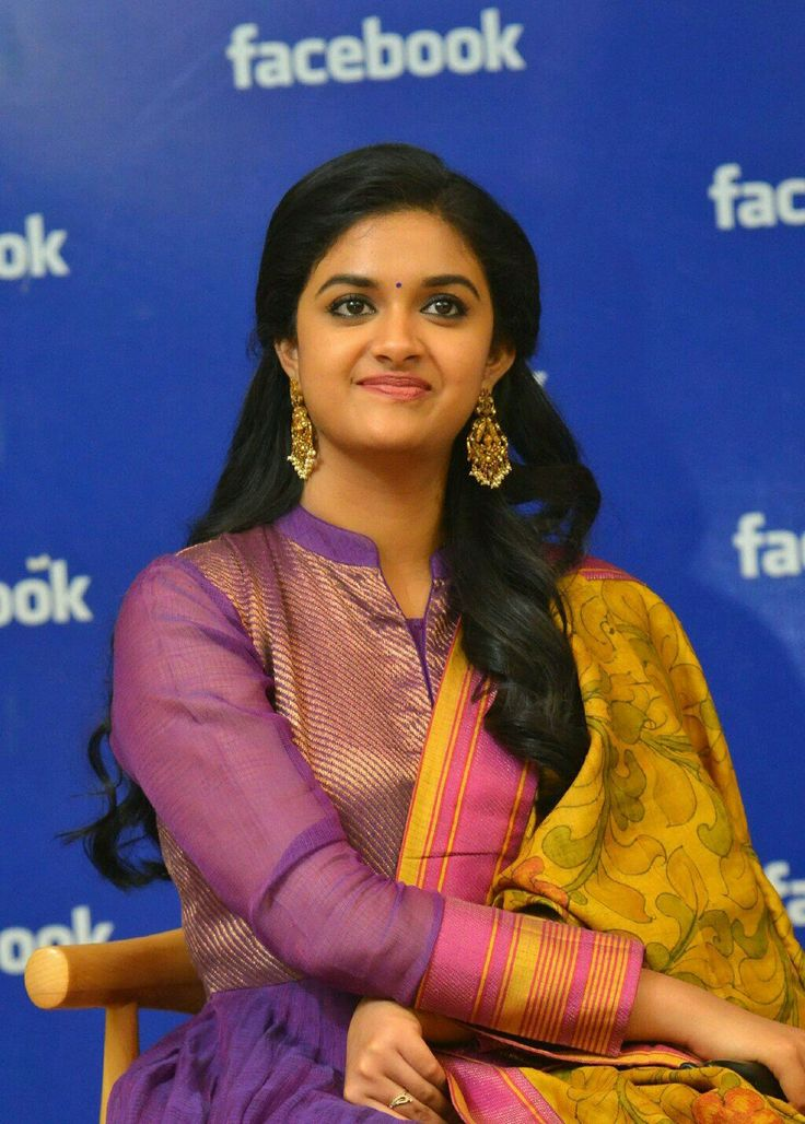 Keerthi Suresh at Facebook head quarters Hyderabad for Nenu Local Promotions