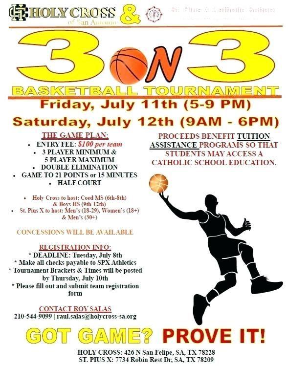 Basketball Tournament Program Template Lovely 3 Free Resume