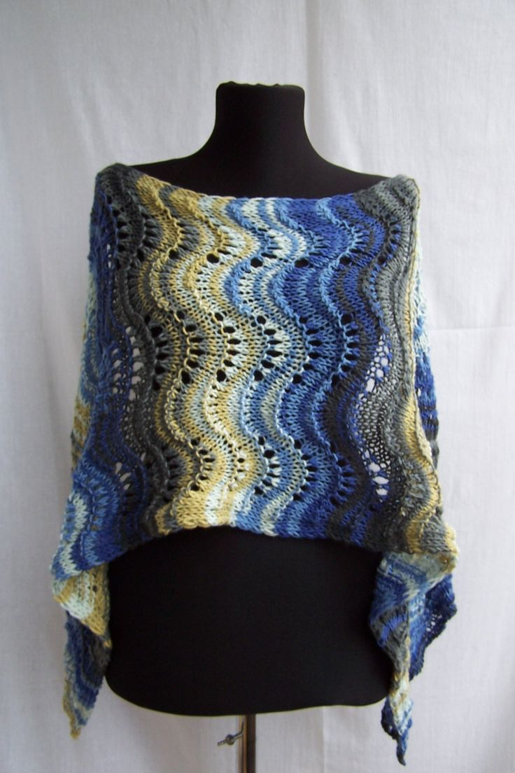 handknit multicolor yellow gray blue mens womens scarf wrap cozy for cold season by DandelionwineMP on Etsy
