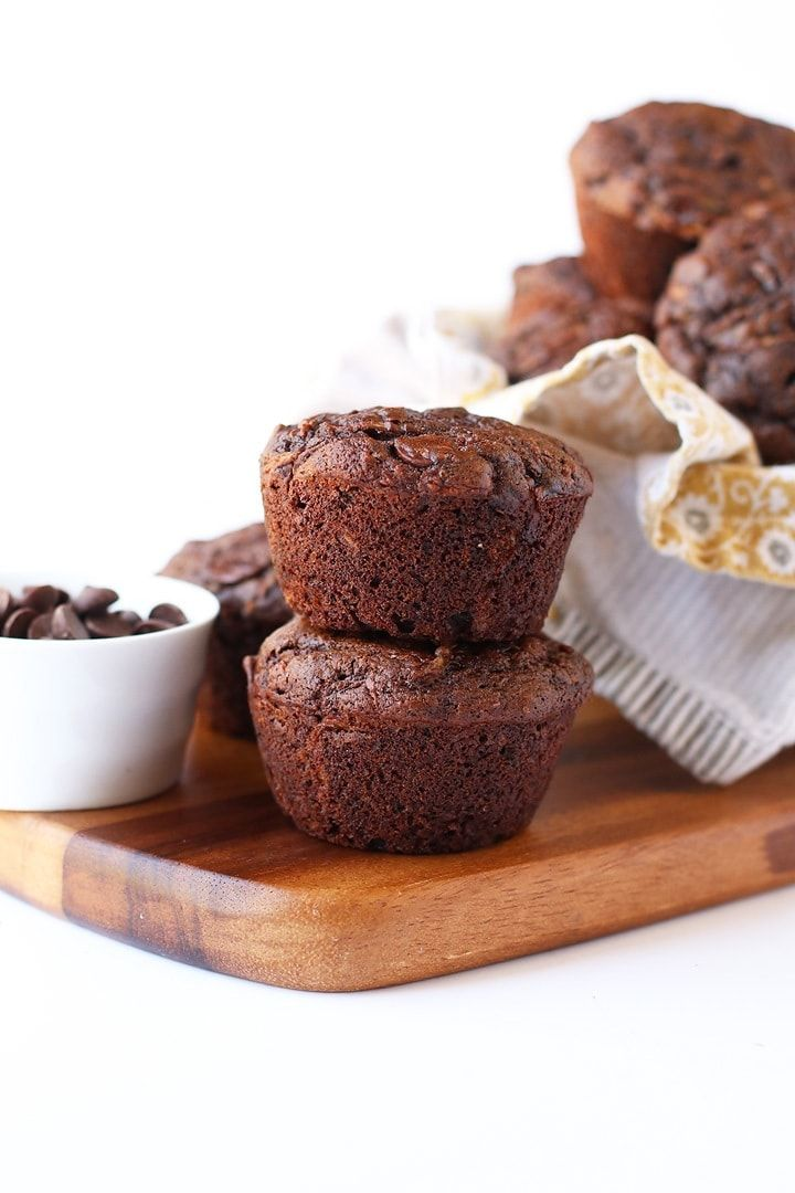 Double Chocolate Zucchini Muffins My Darling Vegan In 2020 Chocolate Zucchini Muffins Double Chocolate Zucchini Muffins Chocolate Zucchini