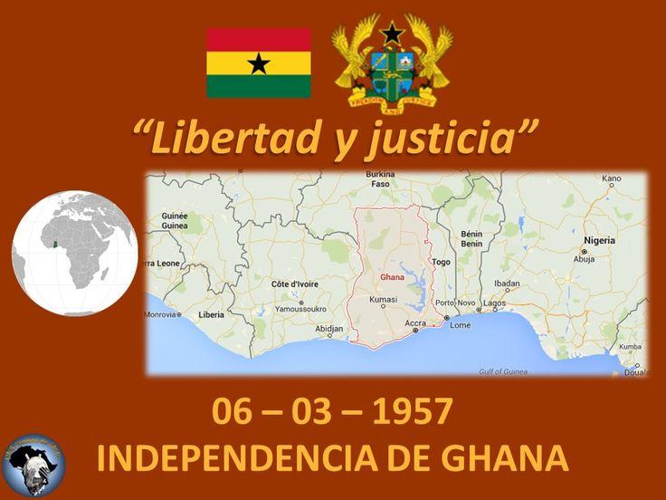El 6 de marzo de 1957 Ghana se independiza del Reino Unido. #ÁfricaIndependiente #Ghana #Reino #Unido #Independencia