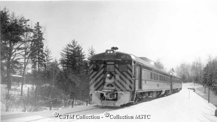 Scenes along CPR Ottawa-Maniwaki line. The special trip was sponsored by OVAR on a Sunday as a finality to the ending of passenger service which commenced operation in 1889 and terminated January 27 1963. January 1963