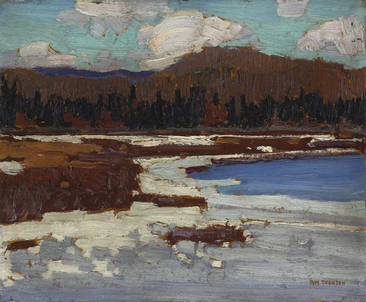 Tom Thomson The Marsh, Early Spring, 1916 Oil on Wood 21.2 x 26.7 cm