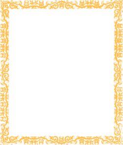 Gold Cool Border Margin Clip Art
