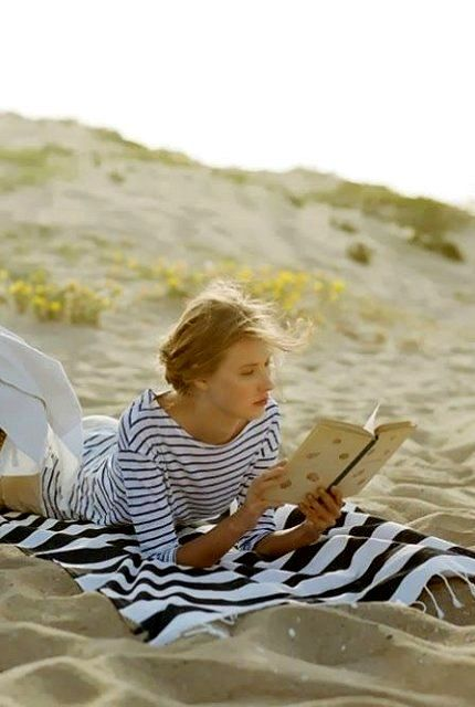 The perfect day, my own little private area on the beach, a book, and the sound of the waves as my soundtrack.