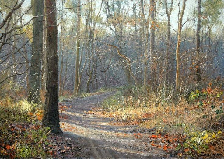 Peter Barker Fine Art - Late Autumn Glade, Wakerley Wood