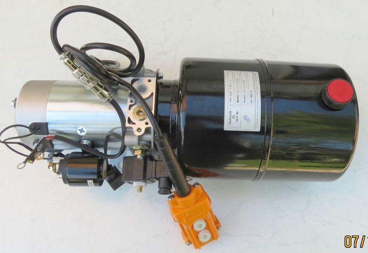 12 Volts 12V Pompe hydraulique Groupe pour Benne avec E - Panneau de commande