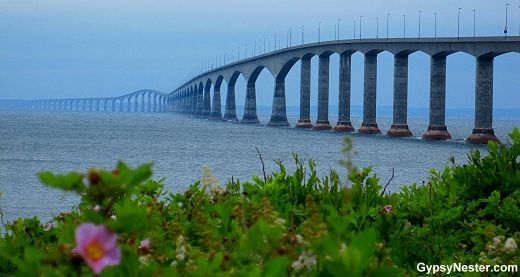 The Confederation Bridge linking Prince Edward Island to New Brunswick! See more: http://www.gypsynester.com/maritimes.htm  #travel #canada