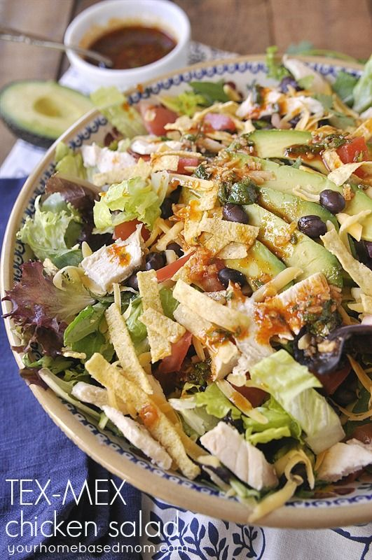 Tex-Mex Chicken Salad - amazing recipe to try that's perfect for spring.  Yum!