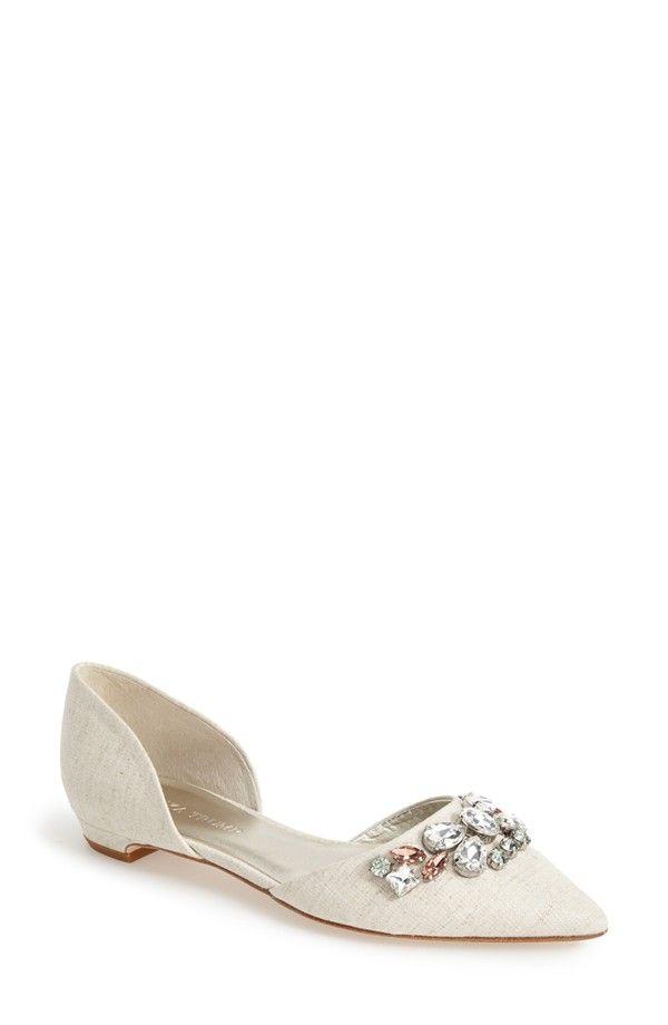 Ivanka Trump 'Lissa' Pointy Toe d'Orsay Flat in beige (Nordstrom)