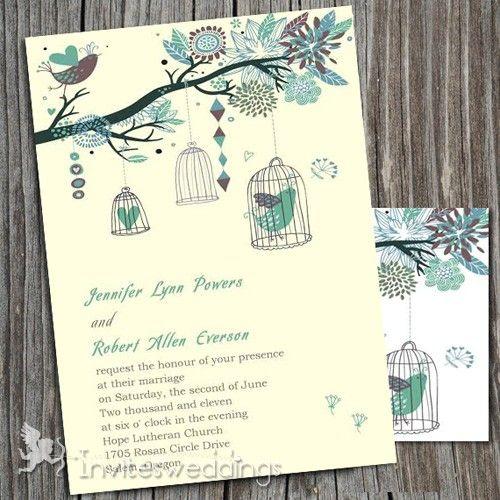 spring garden wedding invitations