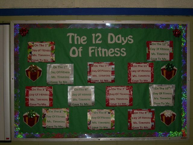 The 12 Days of Fitness - no information at all; but a good idea if I can fill it in!