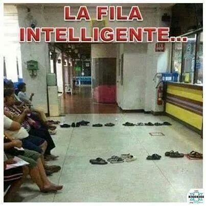 Fila intelligente o variante di #disagio? #ironia #umorismo