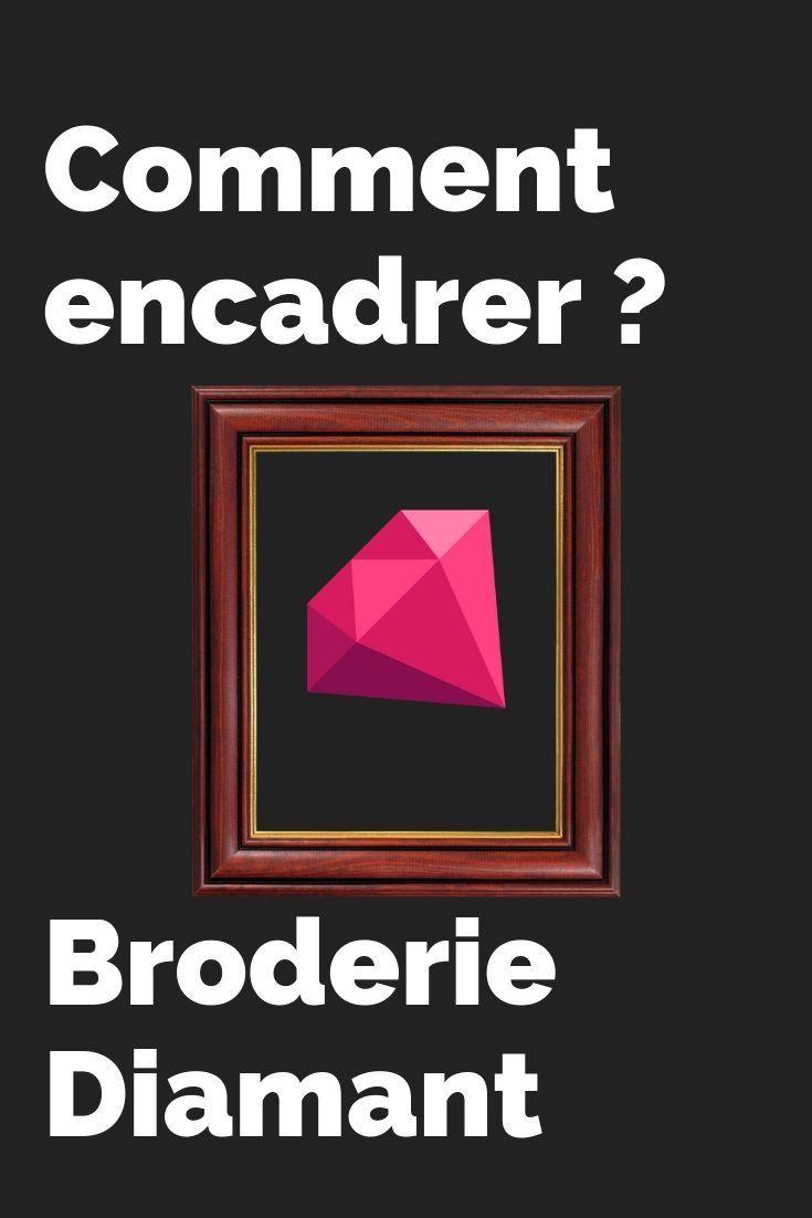 Comment Encadrer Une Toile comment encadrer une broderie diamant ? | broderie, encadrer