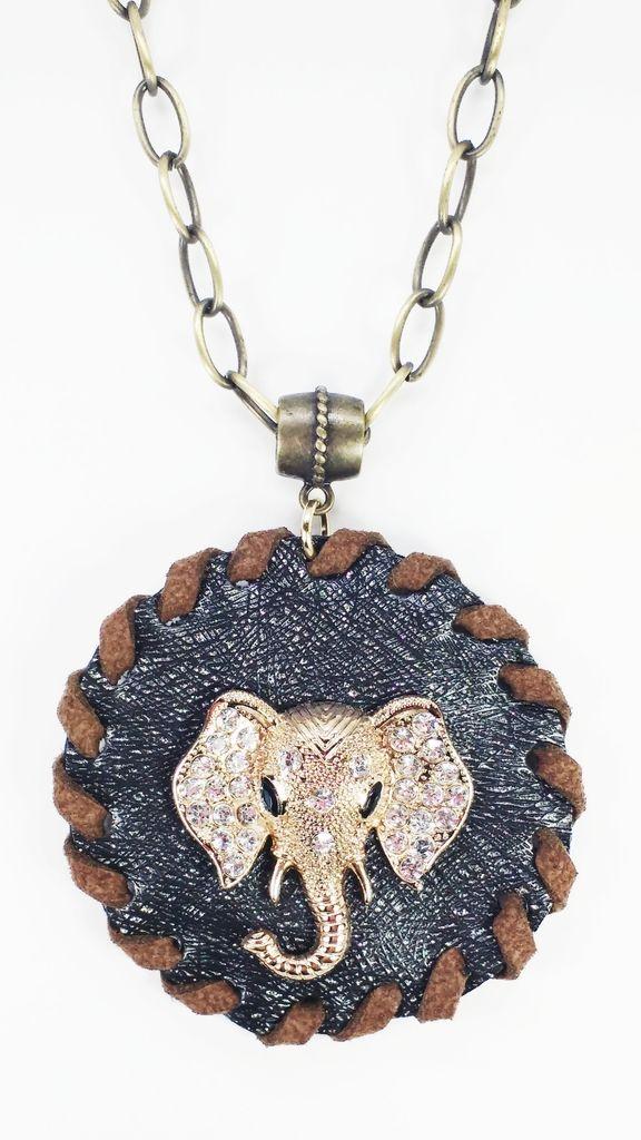 Veja nosso novo produto Bijoux Colar Couro Sintético Safari Elephant - Cód. A954! Se gostar, pode nos ajudar pinando-o em algum de seus painéis :)
