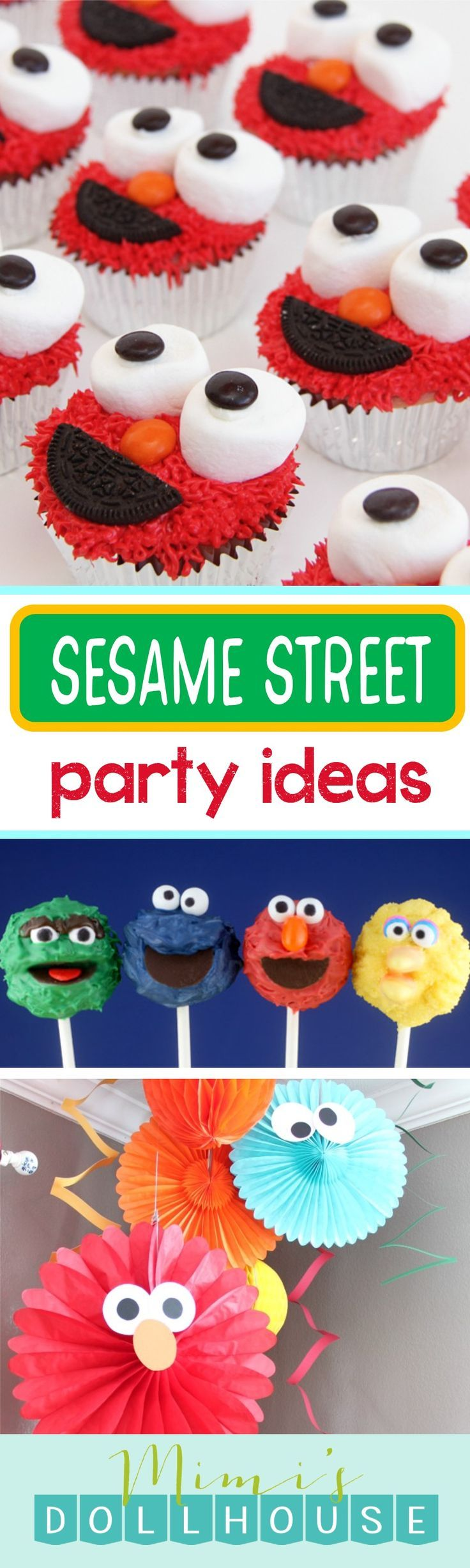 Sesame Street Party: Sesame Street Birthday Ideas. Looking for some Sesame Street birthday party inspiration?   For more Elmo Party inspiration and party ideas, be sure to check out our Sesame Street Party posts. via @mimisdollhouse