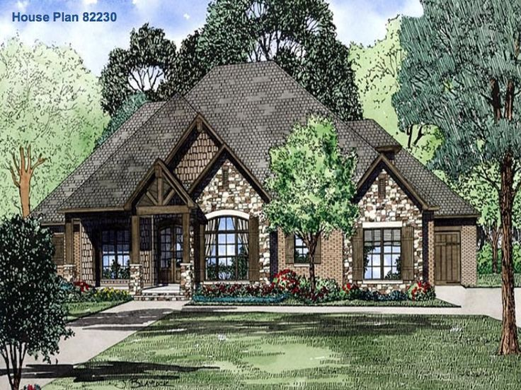 Family home plans plan 82230 mid sized house plans for Family home plans 82230