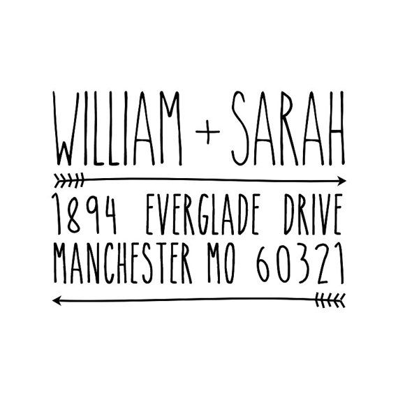 Personalized Address Stamp - 2 x 1.5    Personalized address stamp perfect for weddings, return address, etsy/ebay/web businesses, envelope