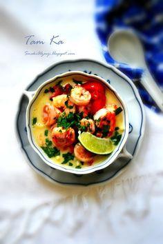 Smaki Alzacji : Tajska kokosowa zupa Tom Ka