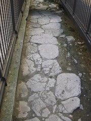 Amelia (TR) Strada romana: via Amerina.  Questa via fu aperta nel 241-240 a.C. unendo tracciati locali ancora più antichi che collegavano Veio con Ameria attraversando tutto il territorio Falisco e toccando i suoi principali centri.