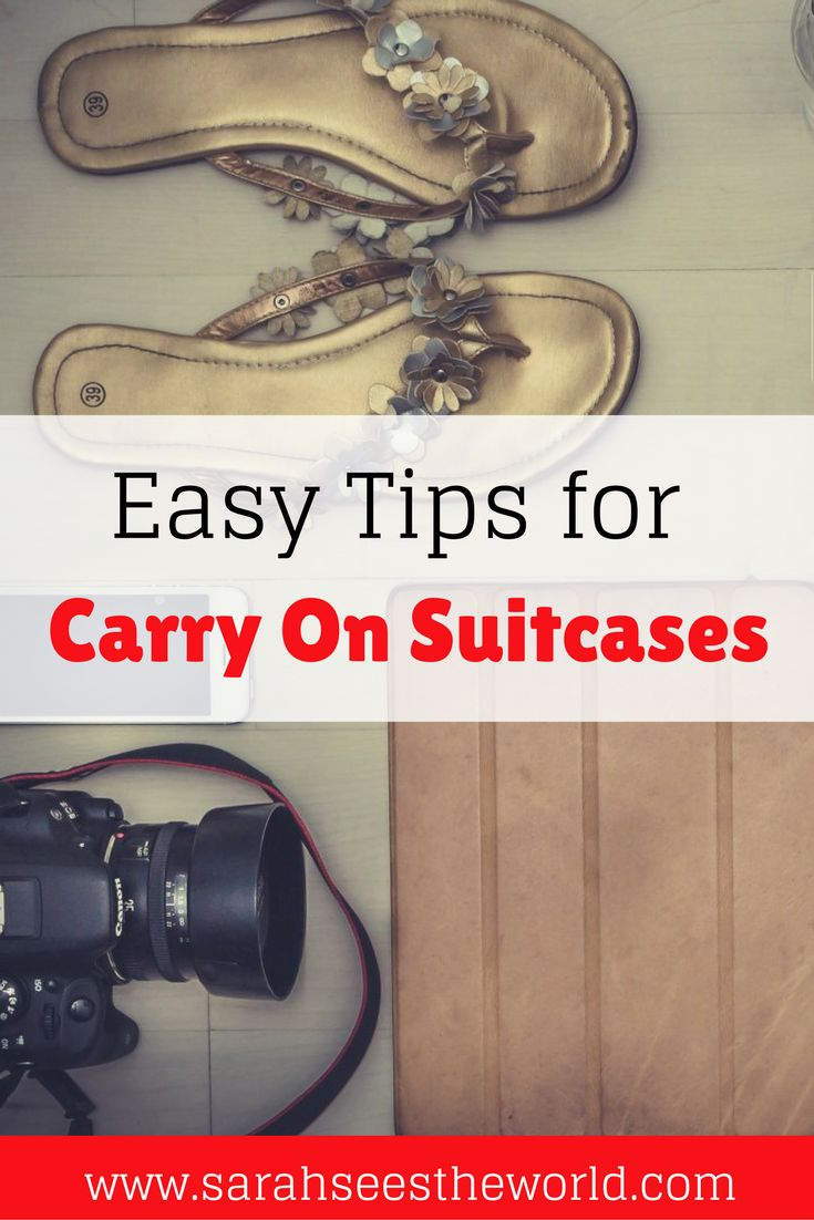 I love traveling with carry on suitcases. I always have my bag with me and know that it's safe. Here are some of my tips for carry on luggage including some packing tips to take everything with you. Save this to your travel or packing board so you don't lose it before your trip!