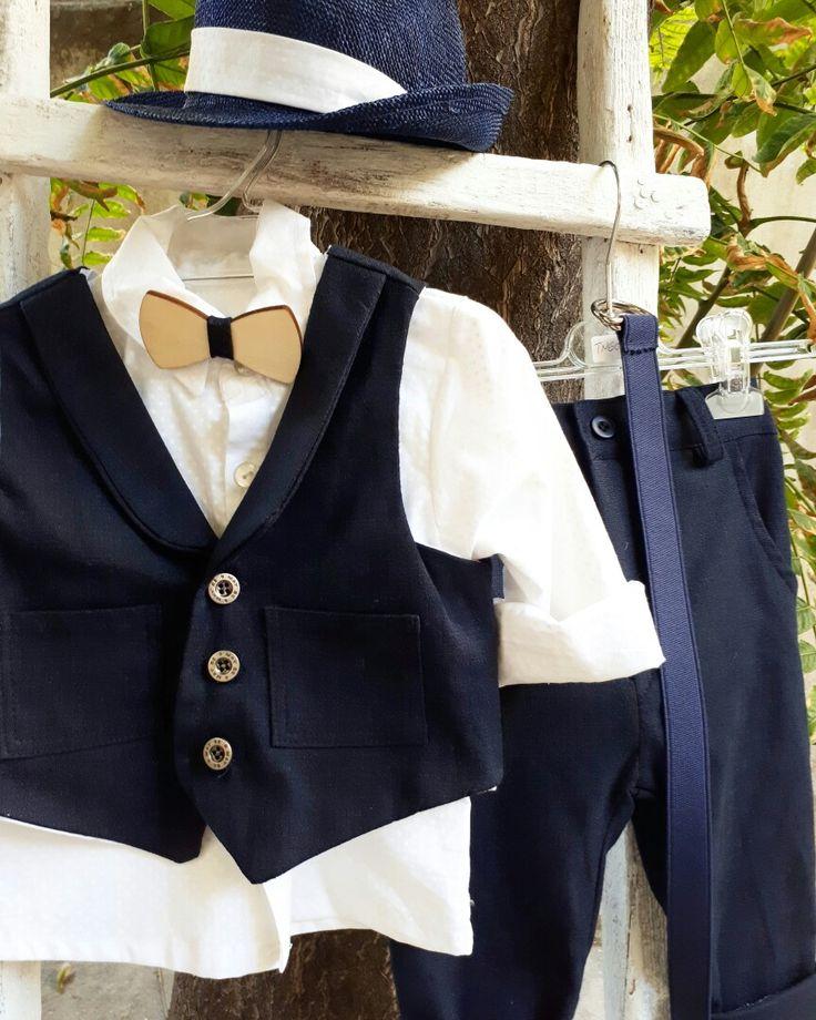 Το κλασικό μπλε χρώμα είναι εγγύηση για μια σικ βάπτιση,μπλε βαμβακερό παντελόνι γιλέκο σεταρισμενο με σπασμένο λευκό πουά πουκαμισάκι! βαπτίστικα ρούχα για αγορακι!καλέστε 2105157506  www.valentina-christina.gr  #βάπτιση #βαπτιση #vaptisi#baptisi #vaptism #vaftisi #vaptistika#βαπτιστικα #baby #wendding #greece#athens #vintage#valentinachristina#vaptistika#mpomponieres#mpomponieres#mpomponieresvaftisis#madeingreece#greekdesigner
