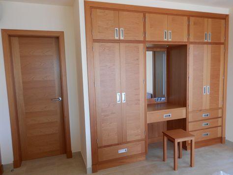Armario empotrado con tocador closet madera pinterest wardrobes bedrooms and cupboard - Libreros de madera modernos ...