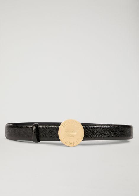 EMPORIO ARMANI CINTURA IN SIMILPELLE CON FIBBIA LOGATA Cintura Donna r 673b29b8a35