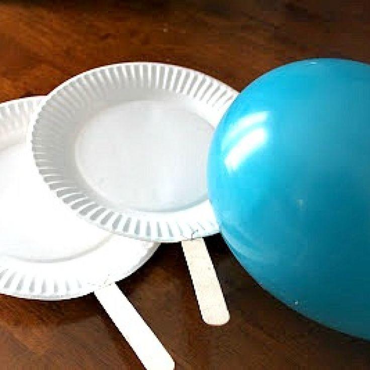 Come realizzare un ping pong riciclando i piatti di carta #pingpong #kids #riciclocreativo