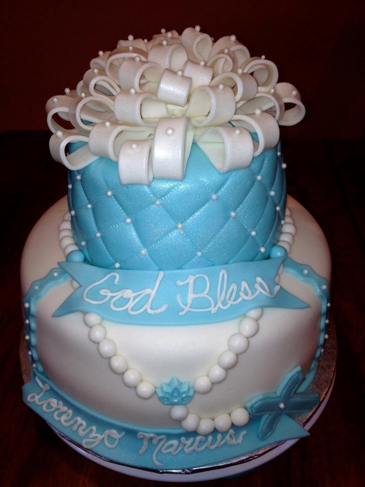 Baptism Cakes For Boys Images
