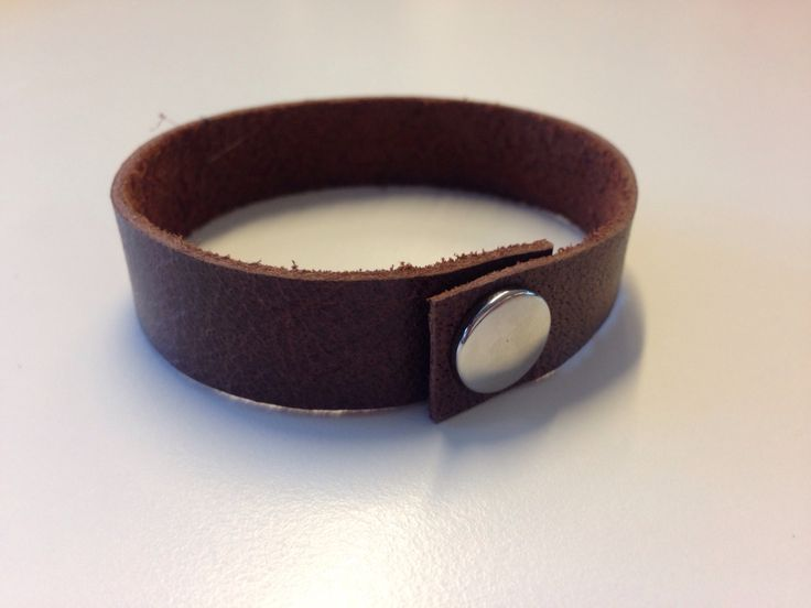 Leather bracelet made by Puck Designs